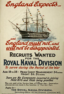 W99-Vintage-WWI-British-Royal-Navy-War-Recruitment-Poster-Re-Print-WW1-A1-A2-A3