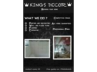 kings decor.painting&decorating tiling bathroom fitting plastering carpenter.. fencing flooring