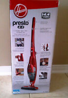 Hoover Presto 2 in 1, Cordless Stick and Hand Vac- NEW!!