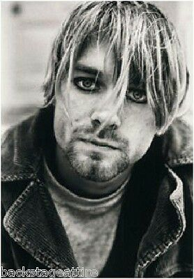 "KURT COBAIN Suicide/Nevermind 29""X43"" Cloth Fabric Poster Flag-New-Wall Banner"