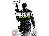 5 PC games (Call of duty modern warfare 3 etc)
