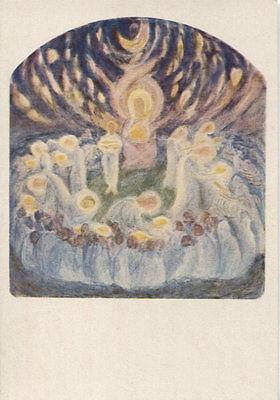 Alte Kunstpostkarte - Die Speisung der Fünftausend