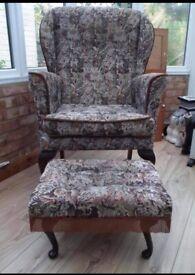 Armchair/footstool