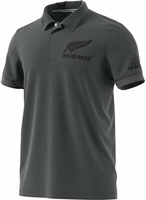 Adidas New Zealand All Blacks Anthem Rugby Polo Grey Medium New Tags *Free P&P*