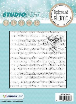 Motiv-Stempel Clearstamp Hintergrund Noten Weihnacht DIY Studiolight STAMPSL213