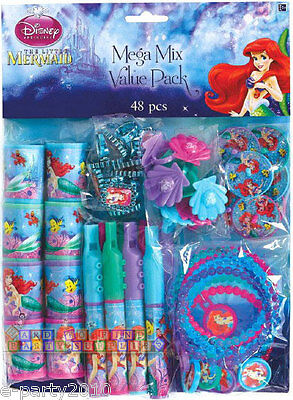 ARIEL THE LITTLE MERMAID SPARKLE (48pc) ~ Princess Birthday Party Supplies Toys](Ariel Birthday Party Supplies)