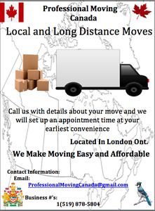Professional Moving Canada: Local and Long Distance Moving