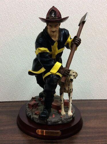 "10-1/2"" Tall ~ Fireman AX & Dog ~  Firemen Statue Figurine  Brand New!"