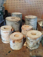 Birch Tree Candle Holders - 24