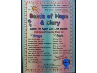 Bands of Hope & Glory, free open air music and fun - Sun 7th Aug.