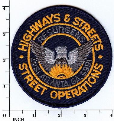 ATLANTA Georgia Highways & Street Operations ! PATCH Municipal Services / Police