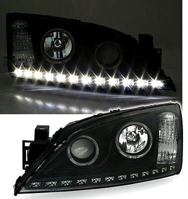 Eagle Eyes Scheinwerfer für FORD MONDEO MK3  LED TFL Optik in Schwarz