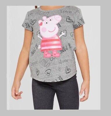 Peppa Pig Toddler Girls Tee Shirt Sizes 3 Toddler, 4 Toddler and 5 Toddler, NWT (Peppa Pig Toddler Clothes)