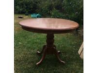 Large circular pine table