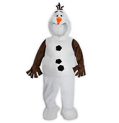 Olaf Costume Boys (Disney Store OLAF Plush Costume FROZEN Unisex Boys Girls Snowman XS 4)