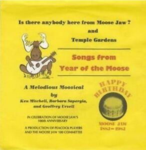 """45 rpm Record of """"Is There Anybody Here From Moose Jaw?"""