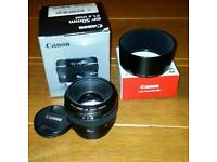 Canon 50mm f1.4 + es-71ii