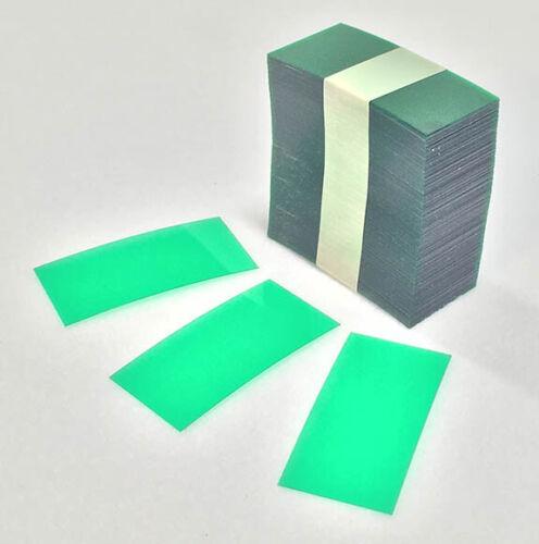 "2.5"" x 1.25"" Retail Green Transparent Plastic Shelf Strips 1500 pcs Liquor Pawn"