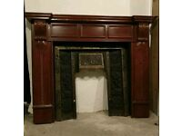 Cast iron fireplace and surround mantle fire