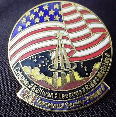 NASA STS official flag pin CRIPPIN SULLIVAN for sale  Shipping to Canada