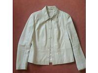M&S Beige Leather Jacket