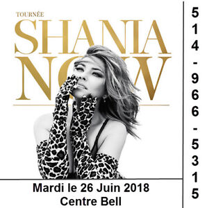 Shania Twain, 26/06/18, Centre Bell, Rouge, Blanc, Gris