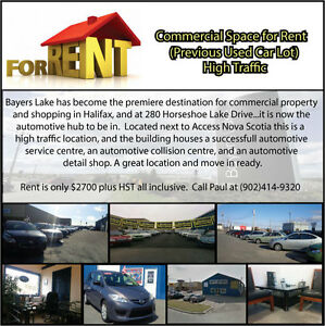 Great Commercial Space for Rent - Previous Used Car Lot