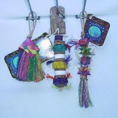 Parrot Pinata Bird Toys 3 Mini Bird Toys Small Birds Brush Kokocorn Balls Stars