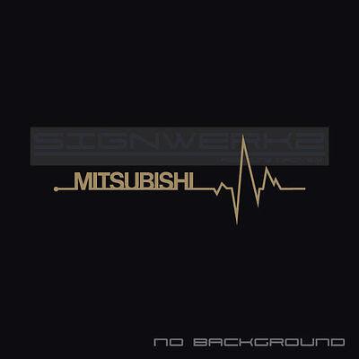 Mitsubishi Heart Beat Pulse Decal Sticker Turbo Evolution Mivec Racing Pair