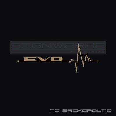 Evo Heart Beat Pulse Decal Sticker Turbo Evolution Mitsubishi Mivec Racing Pair