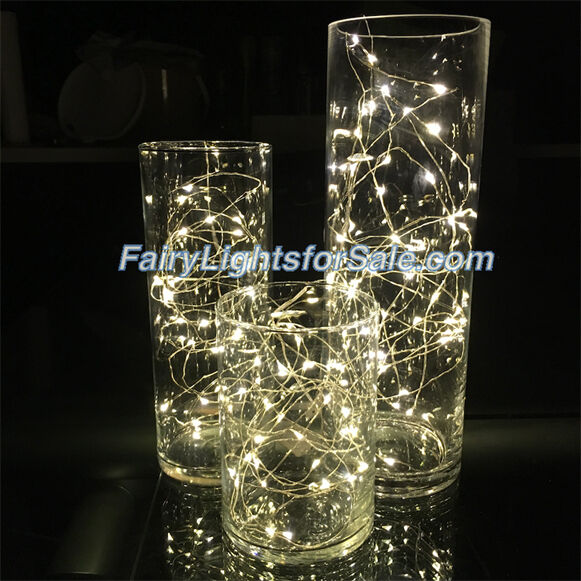Wire led string fairy light centerpiece vase submersible