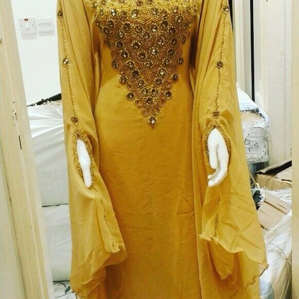 Hand Embroided Kaftan Dress New Beautiful Ladies Dubai Kaftan