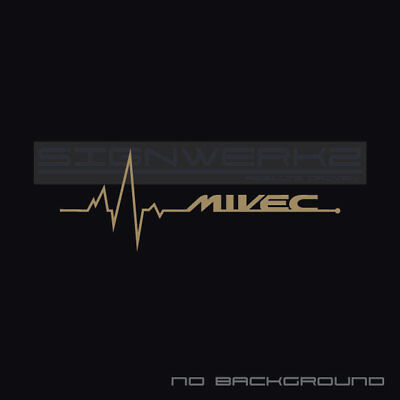 Mivec Heart Beat Pulse Decal Sticker Left Evolution Mitsubishi Mivec Racing Pair
