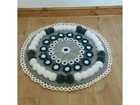 Hand made crochet rug.