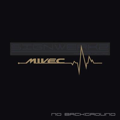 Mivec Heart Beat Pulse Decal Sticker Evolution Mitsubishi Mivec Racing Pair