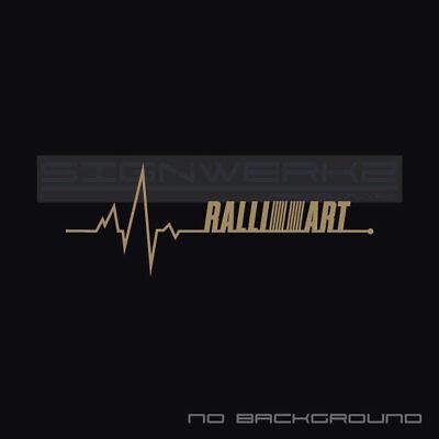 Ralliart Heart Beat Pulse Decal Left Turbo Evolution Mivec Mitsubishi Pair