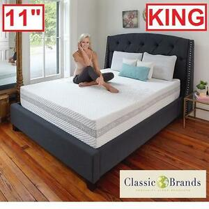 """NEW* CLASSIC BRANDS KING MATTRESS - 131797342 - 11"""" ENGAGE HYBRID COOL GEL MEMORY FOAM INNERSPRING MATTRESSES BED BED..."""