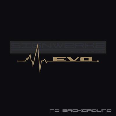 Evo Heart Beat Pulse Decal Sticker Left Evolution Mitsubishi Mivec Racing Pair