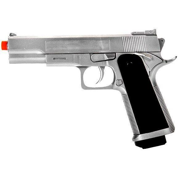 UKARMS M 1911 SPRING AIRSOFT FULL SIZE PISTOL HAND GUN AIR w/ 6mm BB BBs Silver
