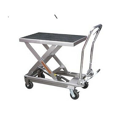 1000 Lbs. Capacity Hydraulic Table Cart - New Free Fedex - Easily Move 12 Ton