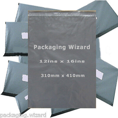 25 x Strong Poly Mailing / Postal Bags 12ins x 16ins (310mm x 410mm) Grey
