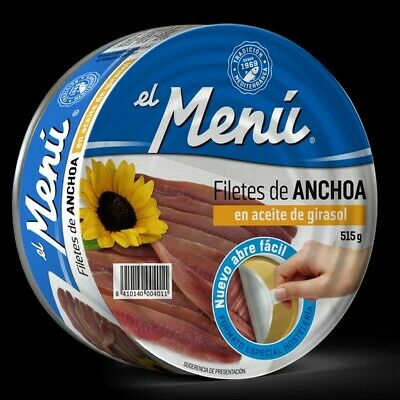 Filetes de Anchoa en Aceite de Girasol - 515 gr.