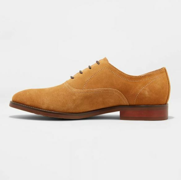 Men's Gracin Suede Oxford Dress Shoes - Goodfellow & Co Tan 10.5, Brown 1