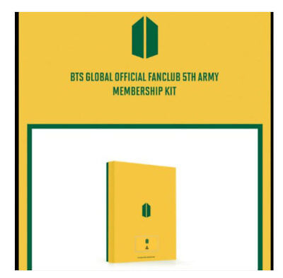 BTS Official ARMY 5th term Membership NEW Sealed Full Kit+Tracking+Free Gift
