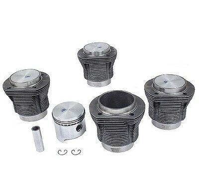 VW Beetle Thing Engine Piston Set w/ 85.5mm Std. w/ Cylinders Flat CR 7.7:1