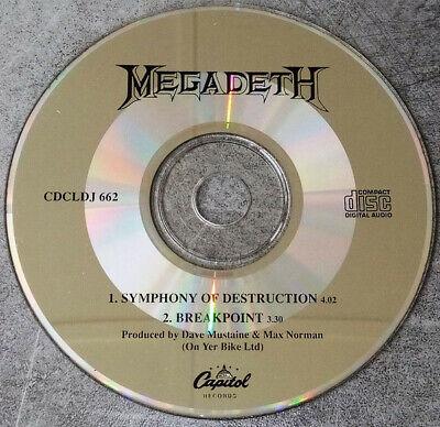 Megadeth, Symphony Of Destruction, NEW/MINT Original UK PROMO CD single