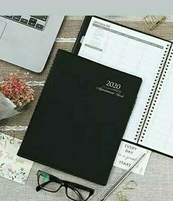 2020 Appointment Bookplanner Weekly Daily Day Minder 8 By 11 Inch Large Black