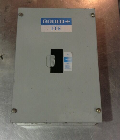 Gould ITE Circuit Breaker Enclosure Use EE Breaker 100 Amp 600 V