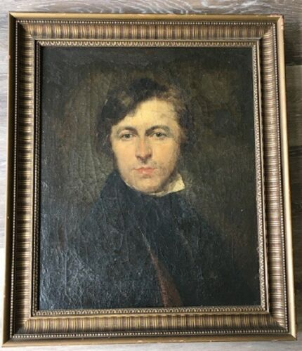 Antique Early to Mid 19th Century or Prior Portrait Painting of a Gentleman