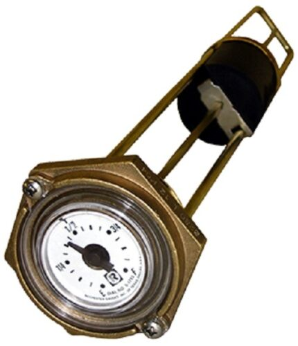 """Rochester 8280 Series """"Marine"""" Flat Dial Vertical Fuel or Water Level Gauge 11"""""""